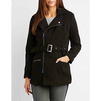 Wool Blend Belted Coat