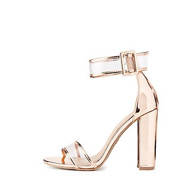 Clear Two-Piece Dress Sandals