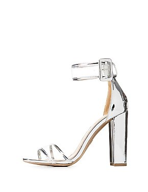 PVC Metallic Two-Piece Sandals