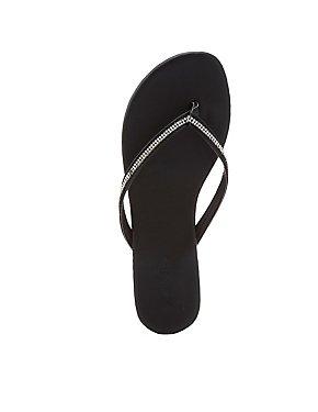 Rhinestone Embellished Flip Flop Sandals