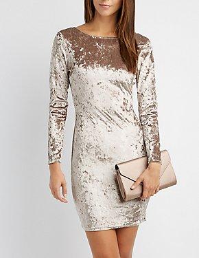 Velvet Bodycon Dress