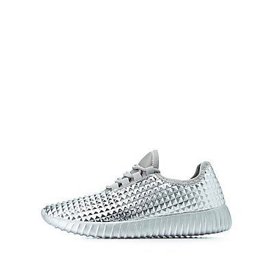 Pyramid Stud Lace-Up Sneakers