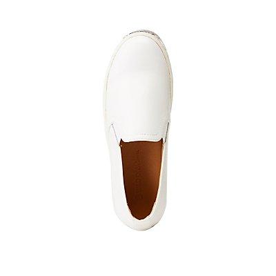 Glitter-Trim Slip-On Sneakers