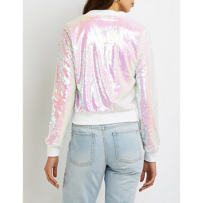 Sequins Bomber Jacket