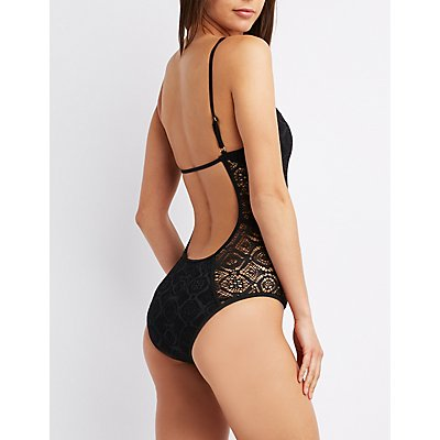 Caged Open-Back One-Piece Swimsuit