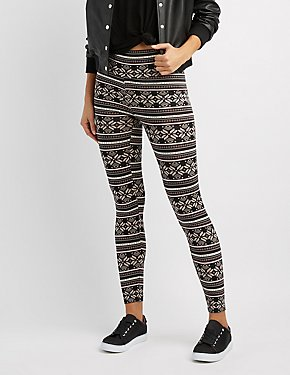 Border Print Leggings