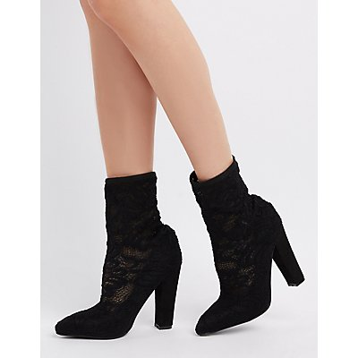 Lace Sock Ankle Booties