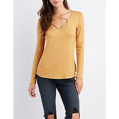 Strappy-Neck Top