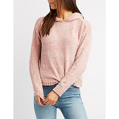 Chenille Hooded Sweater