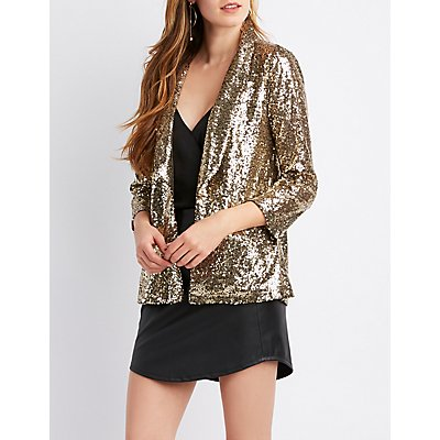 Sequins Embellished Blazer