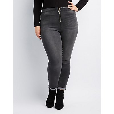 Plus Size Refuge Hi-Rise Zip-Up Skinny Jeans