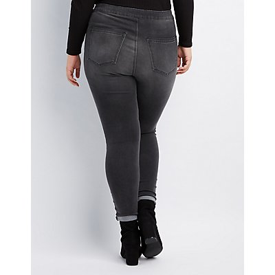 Plus Size Refuge Hi-Rise Zip-Up Skinny Jeans