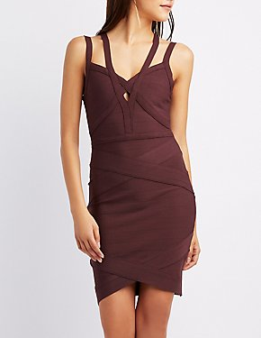 Caged Bandage Bodycon Dress