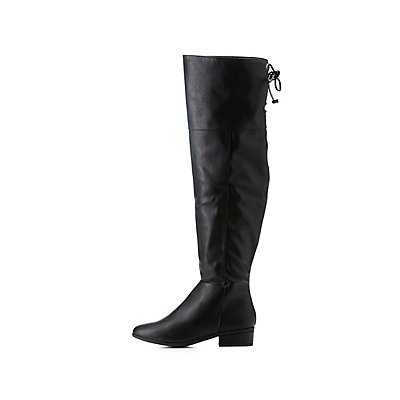 Bamboo Tie-Back Over-The-Knee Boots
