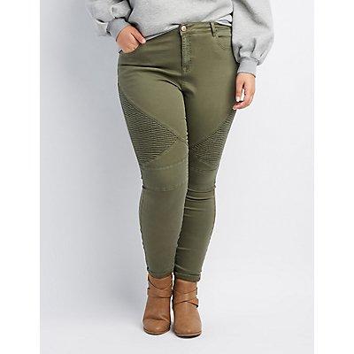 Plus Size Refuge Moto Skinny Jeans