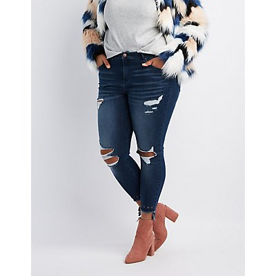 Plus Size Distressed Denim & Ripped Jeans