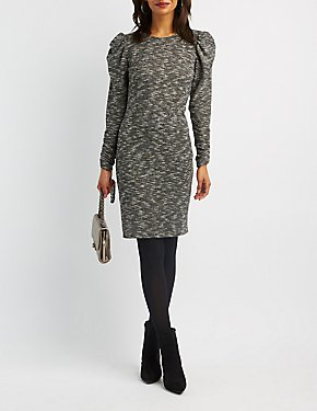 Ruched Hacci Knit Dress