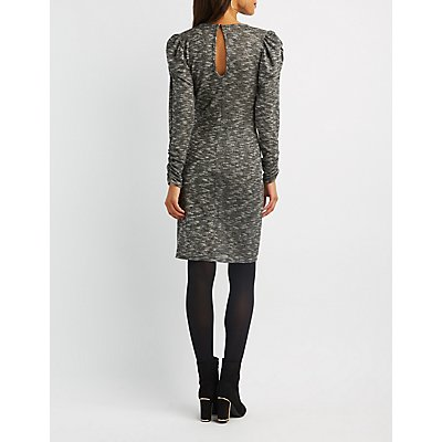 Ruched Hacci Knit Sweater Dress