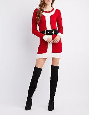 Santa Claus Shaker Stitch Tunic