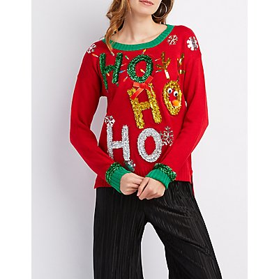 Ho Ho Ho Tinsel Sweater