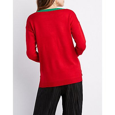 Ho Ho Ho Tinsel Sweater