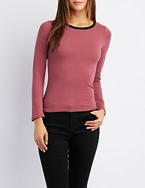 Long Sleeve Ringer Top