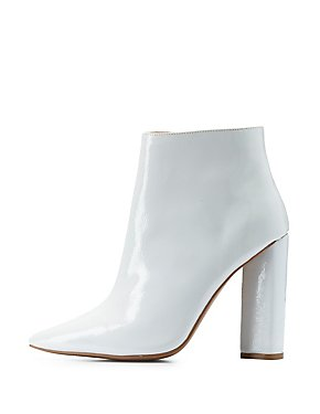 Qupid Pointed Toe Ankle Boots