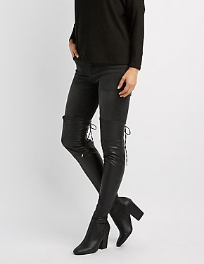 Qupid Lace-Up Back Over-The-Knee Boots