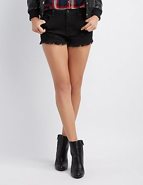Refuge Hi-Rise Cheeky Cut-Off Denim Short