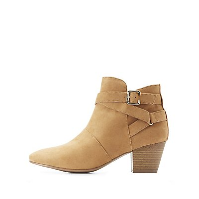 Qupid Buckled Harness Ankle Booties