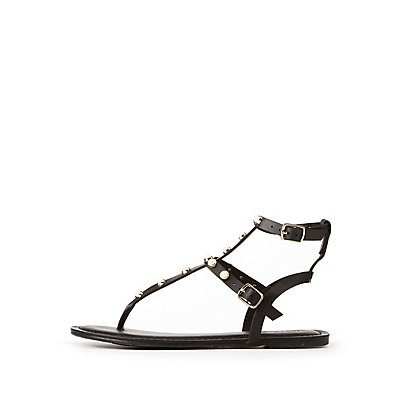 Faux Pearl Gladiator Sandals