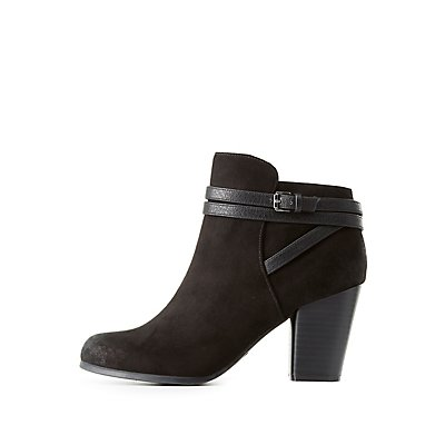 Qupid Belted Ankle Booties