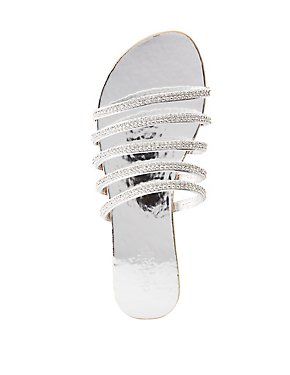 Glitter Slide Sandals
