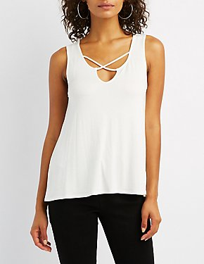 Caged Knit Tank Top