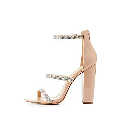 Three-Piece Rhinestone Sandals