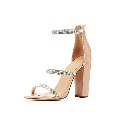 Three-Piece Rhinestone Sandals