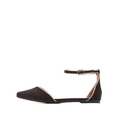 Ankle Strap D'Orsay Flats