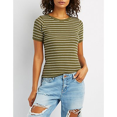 Striped Fitted Ringer Tee