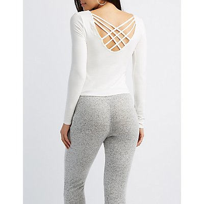 Lattice-Back Caged-Front Top