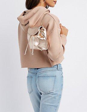 Convertible Metallic Mini Backpack