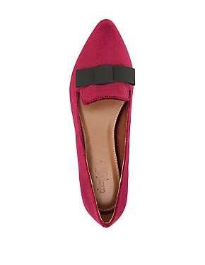 Velvet Pointed Toe Flats