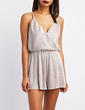 Ribbed Surplus Shimmer Romper