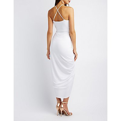 Surplice Tulip Maxi Dress