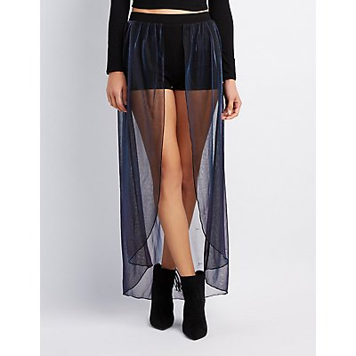 Mesh Layered Maxi Shorts