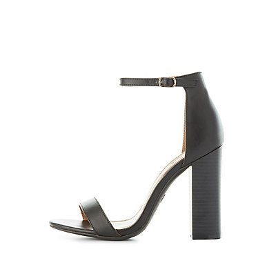 Ankle Strap Chunky Heel Sandals