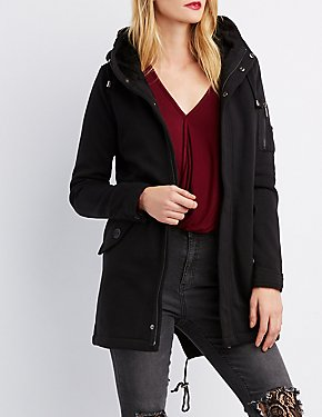 Hooded Longline Jacket