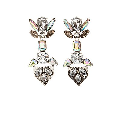 Embellished Crystal Drop Earrings