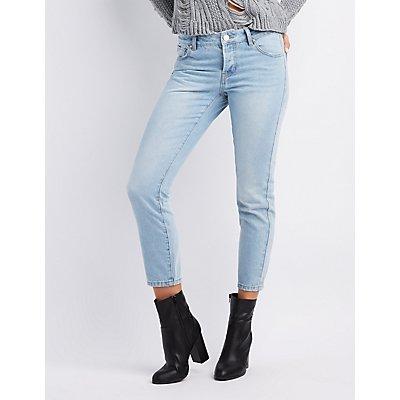 Refuge Mid-Rise Straight Leg Jeans