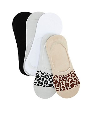 Leopard Print Shoe Liners - 5 Pack