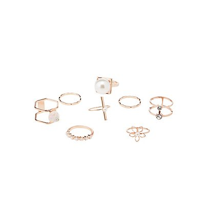 Embellished Caged Rings Satckable Rings